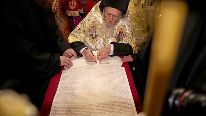 İstanbul'da imza atıldı: Ukrayna'da bağımsız kilise