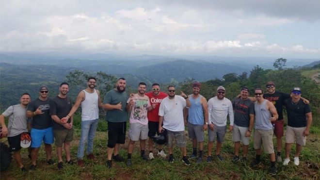 The Group Of  Friends Pose For A Photo In The Costa Rican Mountains