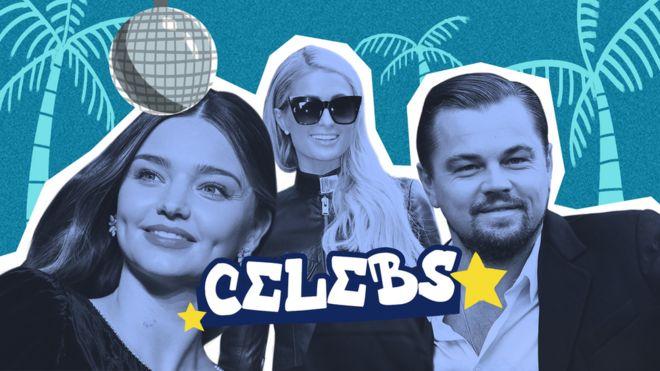 Miranda Kerr, Paris Hilton iyo Leonardo DiCaprio