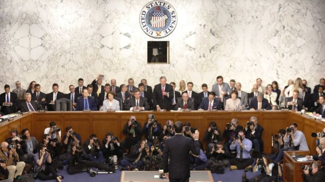 Comey takes the oath at hearing
