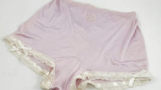 The lilac underwear which once belonged to Eva Braun