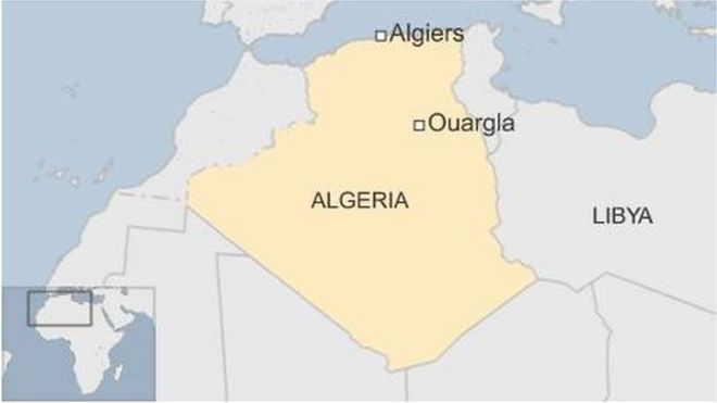 Algeria fire at camp for migrants in Ouargla kills 18 - BBC News