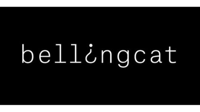 Captura de pantalla de la página oficial de Bellingcat.