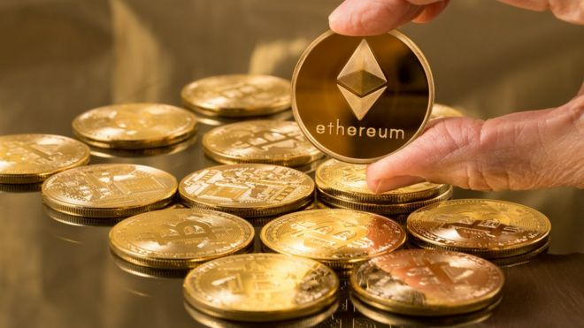 Moedas com símbolo do Ethereum