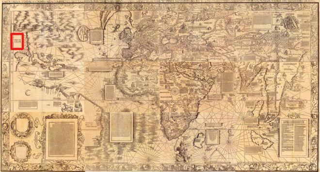 ¿Por qué en un mapa de 1516 se llama Cuba al territorio de Estados Unidos? _106433012_map1516_enlarge-marca