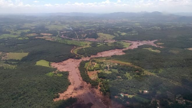 Vista aérea da região de Brumadinho