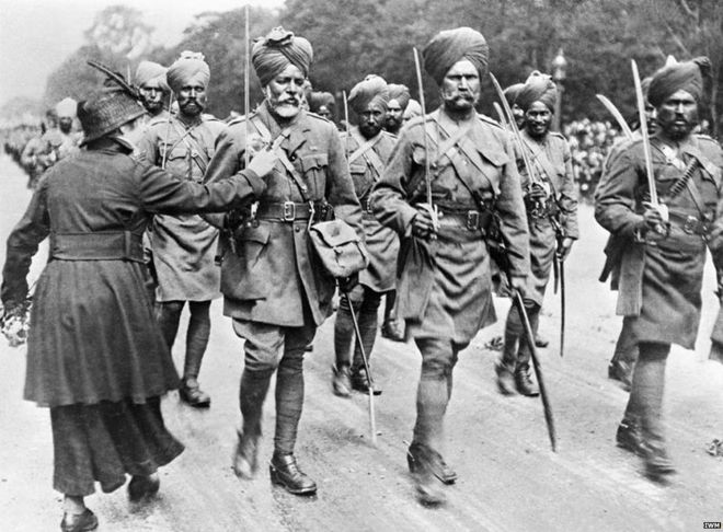 Image result for punjabi soldiers in british army