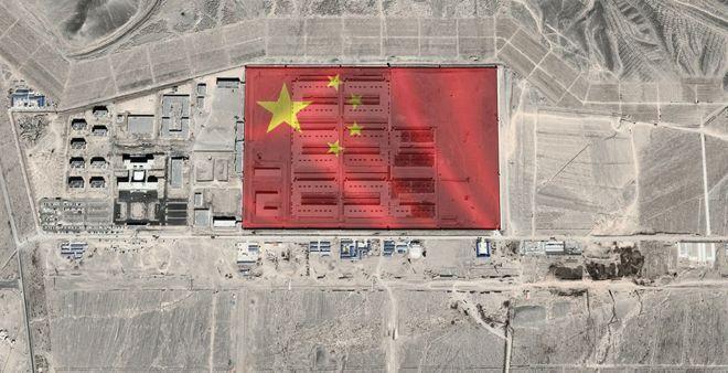 предполагаемый исправительный лагерь на спутниковом фото