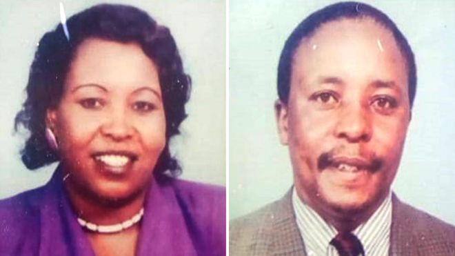 Passport photos of the wife and husband