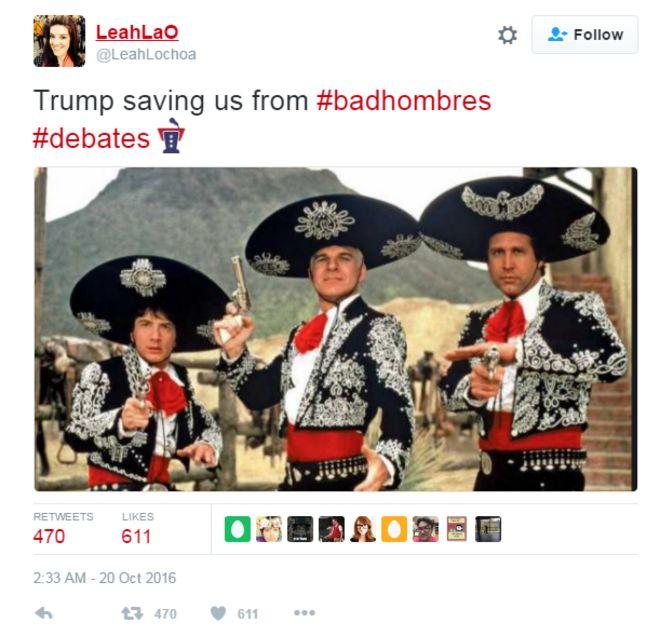 _91993412_hombres4 presidential debate trump's 'bad hombres' quip inspires mucho
