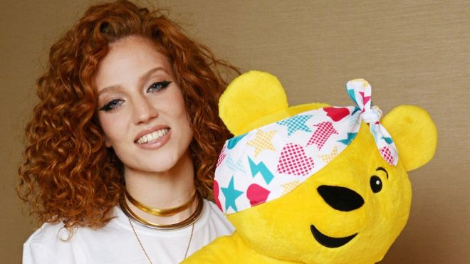 561a84204395 Jess Glynne sings Children in Need single - BBC News