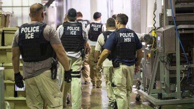 ABD Göçmenlik ve Gümrük Muhafaza polisleri