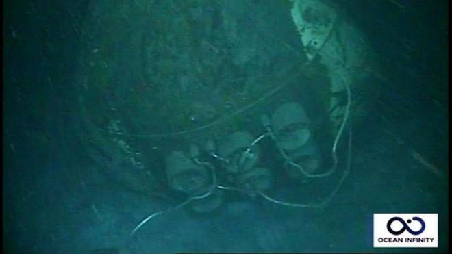  Imágenes del submarino ARA San Juan localizado a 907 metros de profundidad