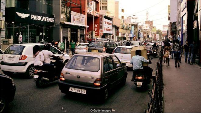 Engarrafamento em Bangalore, Índia