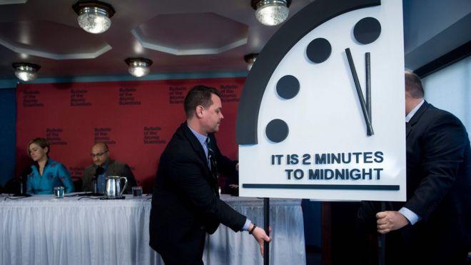 Anuncio del Reloj del Apocalipsis