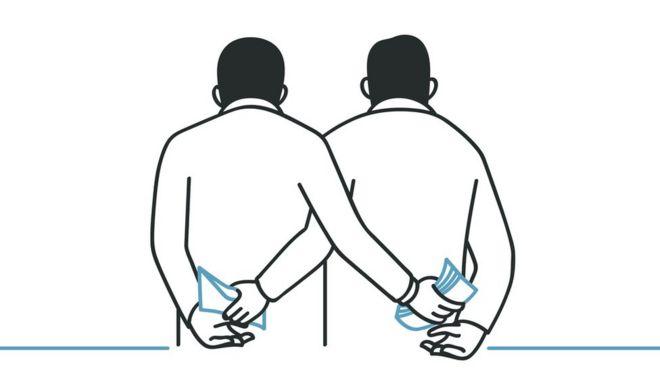 Ilustração sobre corrupção