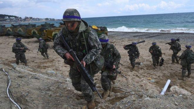 米韓、合同軍事演習を来月1日に...