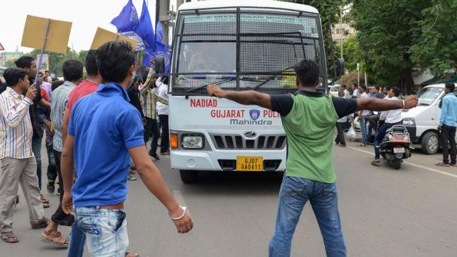 Demons display in Gujarat