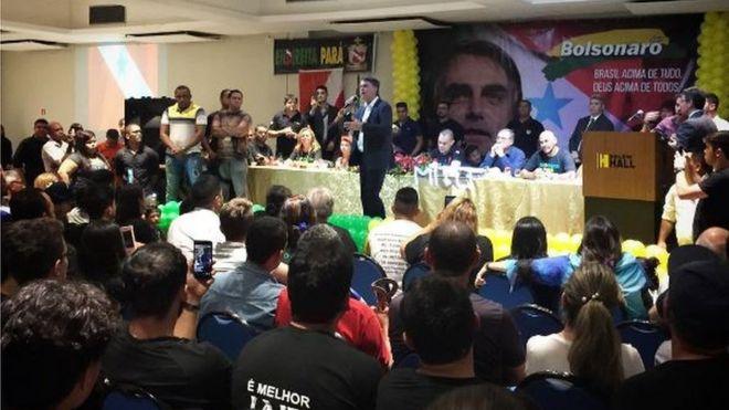 Bolsonaro fala em Belém