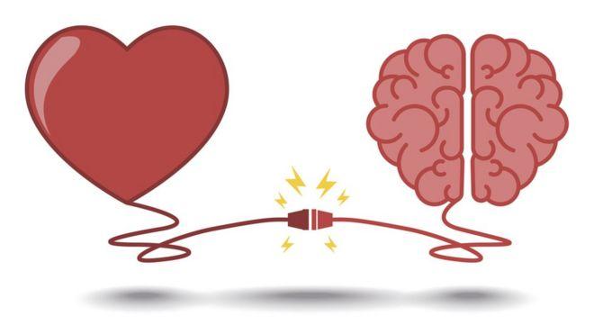صورة تعبيرية للعلاقة بين العقل والعاطفة
