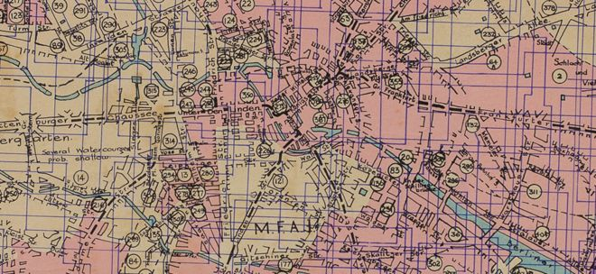 Map Of Germany With Cities And Towns In English.Bomber Command Maps Reveal Extent Of German Destruction Bbc News