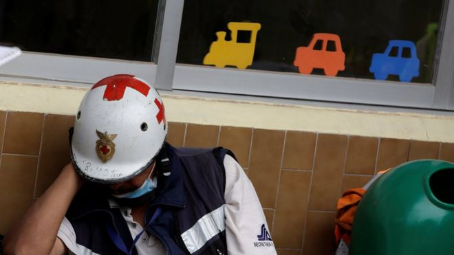Rescue workers have been searching for survivors after Enrique school  collapsed in Mexico City e103484c3d71