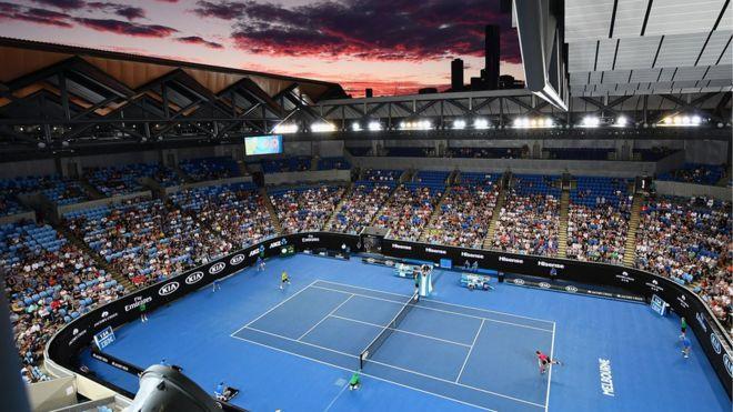 Tennis And Politics Clash On Australian Open Centre Court Bbc News