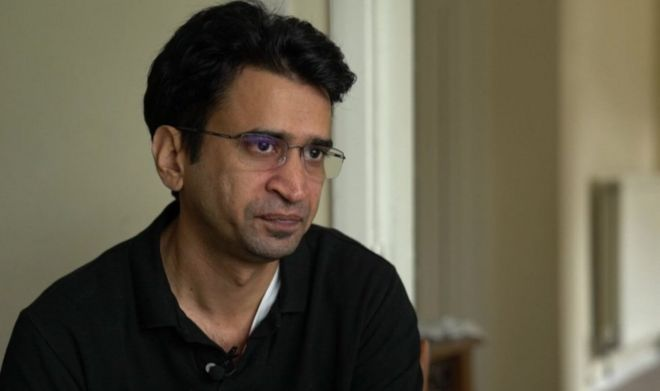 A screengrab showing Pakistani blogger Aasim Saeed