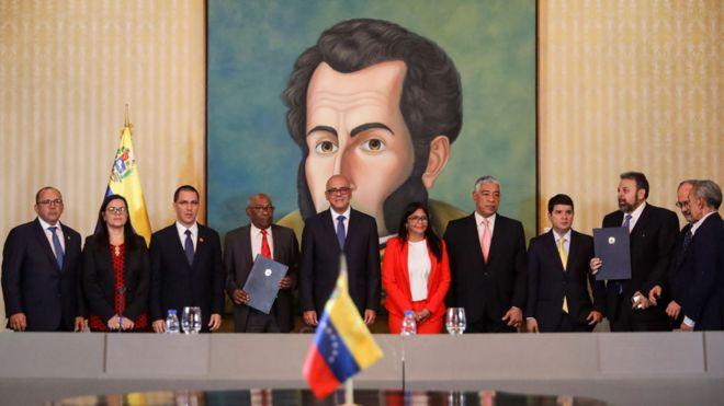 Resultado de imagen para acuerdo en venezuela