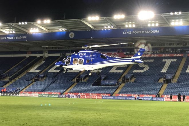 Image result for leicester city owner helicopter