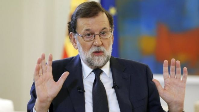 Spanish Prime Minister Mariano Rajoy. Photo: 5 October 2017