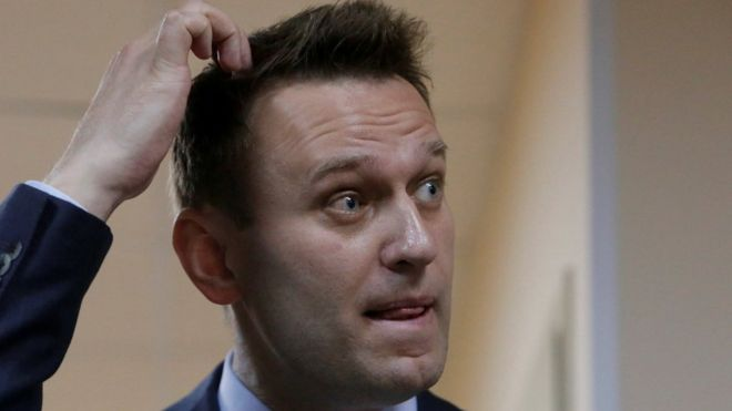 Russian opposition leader Alexei Navalny detained ahead of protests