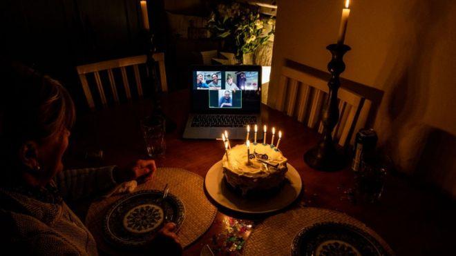 День рождения по Zoom