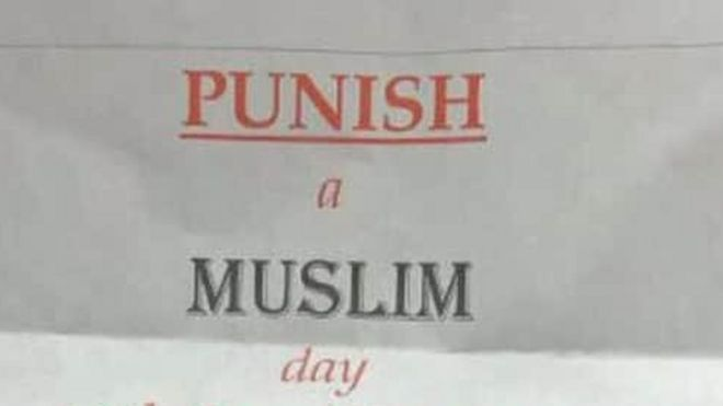 Punish a Muslim day' letters probed by terror police - BBC News