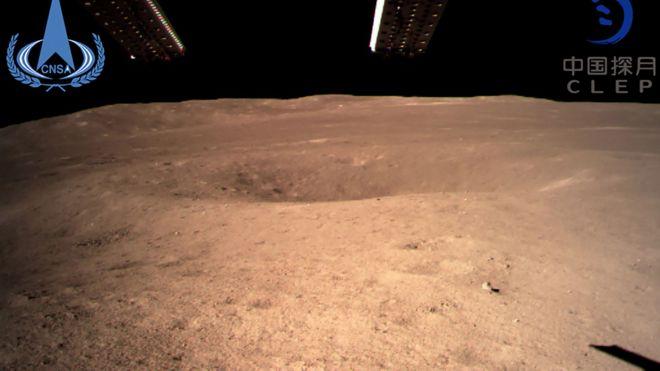 Primeras imágenes de la cara oculta de la luna, suministradas por la CNSA
