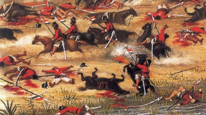 Batalha de Tuyutí, uma das muitas em que o Exército paraguaio foi derrotado pela Tríplice Aliança