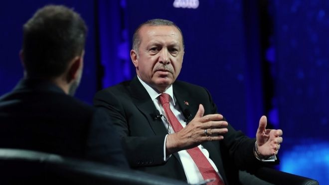 Cumhurbaşkanı Erdoğan'dan AB referandumu sinyali: Bize düşen 81 milyona gitmek(5EKİM2018 )