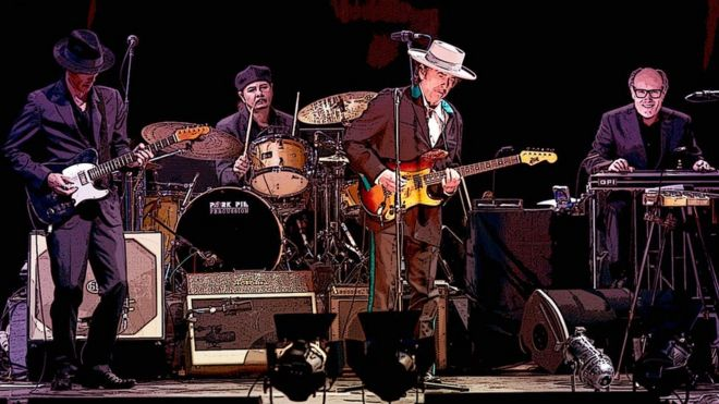 Bob Dylan's first album of new songs in eight years _112984642_bob-dylan_gompertz-2