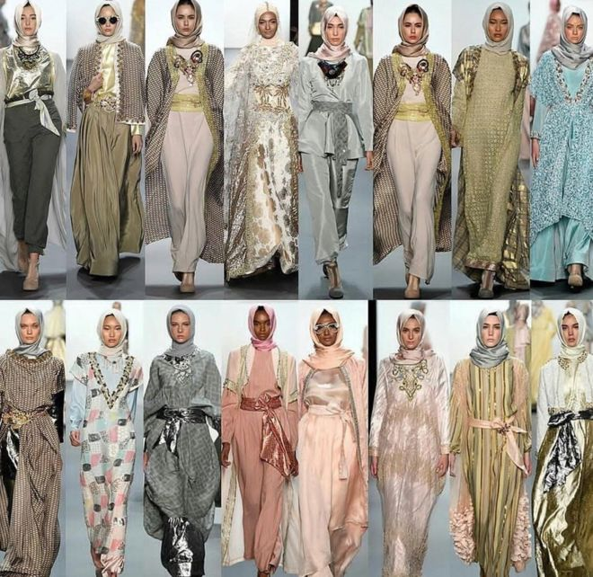 828662fe886b The moment hijabs dazzled the New York Fashion Week catwalk - BBC News
