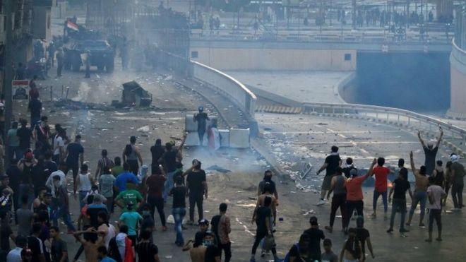 احتجاجات في بغداد