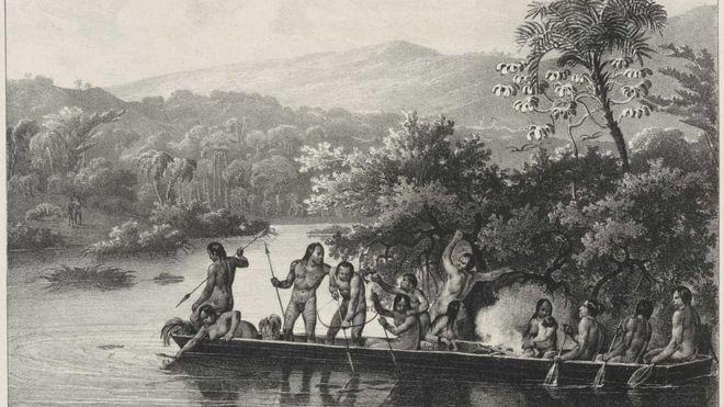 Gravura de Rugendas retrata indígenas no início do século 19