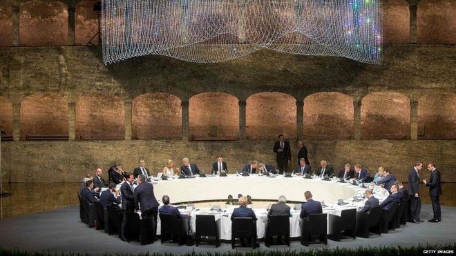 EU leaders in Salzburg