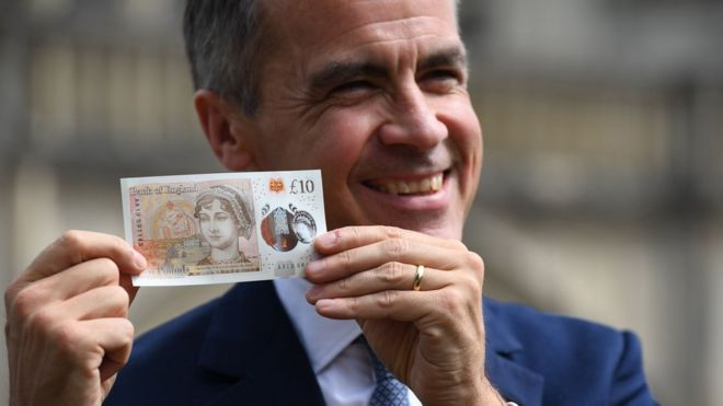 New plastic £10 note featuring Jane Austen unveiled _96991052_gettyimages-817906972