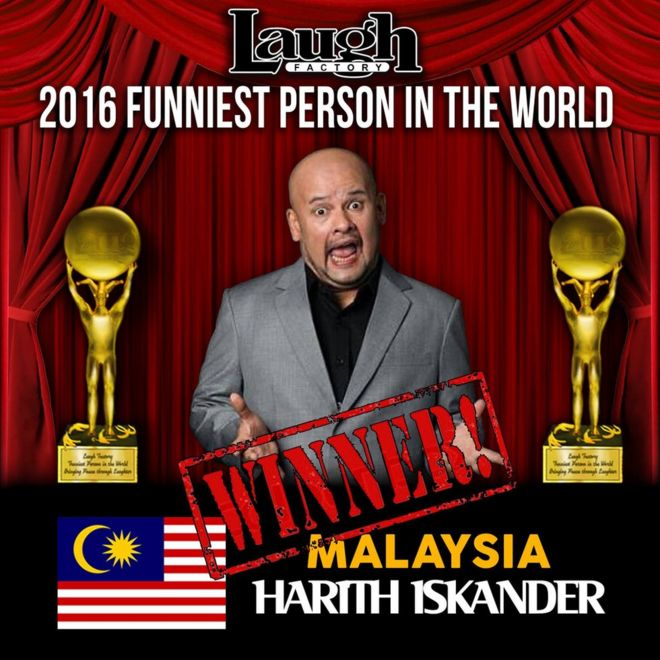 the malaysian comedian crowned world s funniest person in 2016