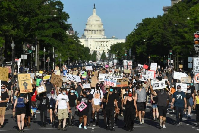 Marcha de Black Lives Matter en Washington D.C.