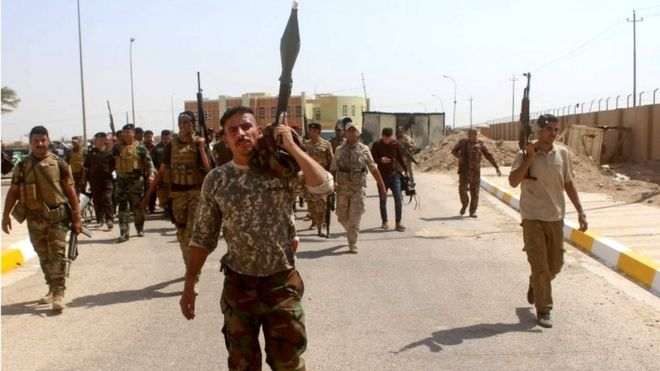 نیروهای ارتش عراق در شهر رمادی