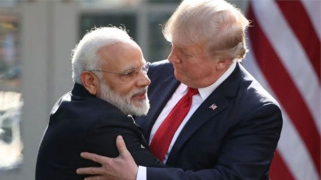 """特朗普说,他与印度总理莫迪讨论了南亚国家与中国的边境紧张局势,""""莫迪对中国的情况感觉不好。"""""""