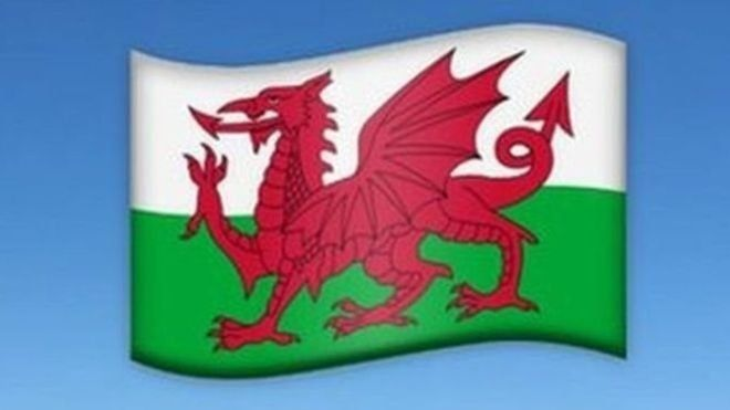 Emoji baner Cymru
