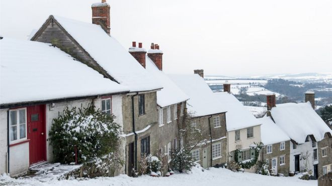houses on Gold Hill, Shaftesbury