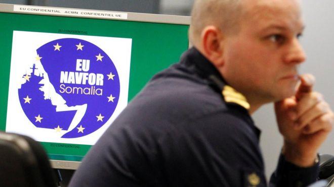 Empleado de la fuerza de trabajo naval de la UE